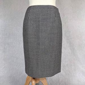 LRL Vintage Wool Houndstooth Pencil Skirt Size 4